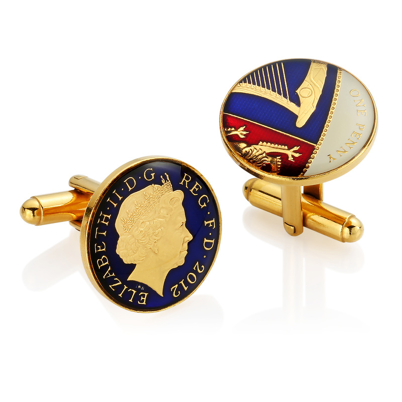 one pound coin cufflinks